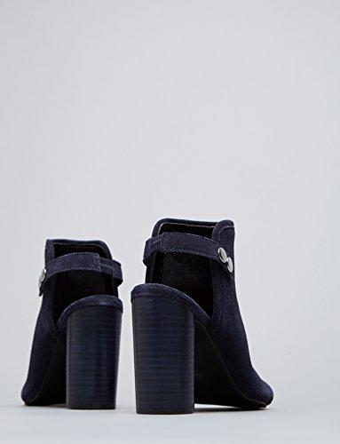FIND Sandalia de Ante con Tira para Mujer Azul (Navy)