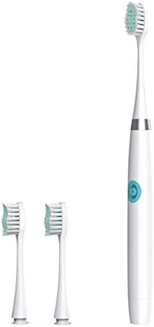 バッテリー防水ソニックモーターは、子供のための口腔衛生非充電式の運営3つのブラシヘッドと電動歯ブラシ (Color : White)