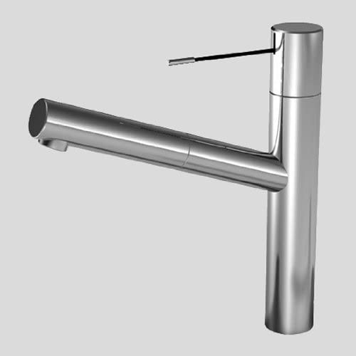KWC Faucets 10.151.113.000 ONO Pull Out Kitchen Faucet, 1 Spray, Chrome