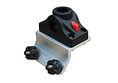 Brocraft Power Lock Rod Holder for Lund Boat Sport Track Rod Holder- 45 Degree Or 90 Degree