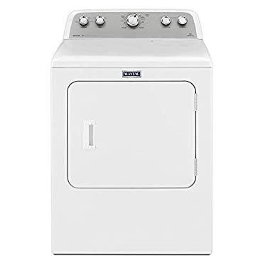 Maytag MEDX655DW 7.0 cu. ft. 240-Volt White Electric Vented Dryer with Sanitize Cycle