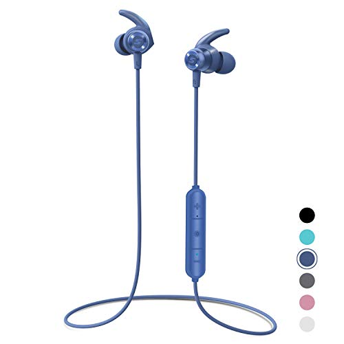 Bluetooth Headphones, Letsfit Wireless Headphones, HD Stereo Sound Wireless Earbuds w/Mic, Water Resistant Bluetooth…