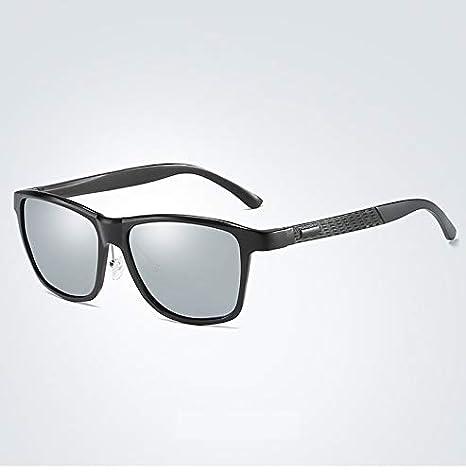 HUBINGRONG Aluminio Magnesio Polarizador Masculino Conducción UV400 Gafas de protección Gafas de Conductor Gafas de Sol