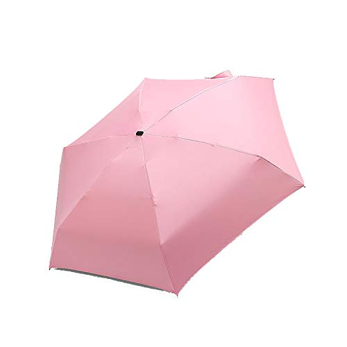 Small Folding Umbrella Rain Women Gift Men Mini Pocket Parasol Girls Anti UV Waterproof Portable Travel Sun Umbrella,pink (Square Umbrella Patio Toronto)