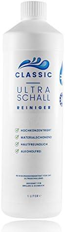Classic Ultraschallreiniger Konzentrat – Reinigungskonzentrat für jedes Ultraschallreinigungsgerät, Ultraschallbad – Ultraschall Reiniger für Brillen, Schmuck und Dental