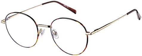 OUBAO Glasses Ovel Clear Lens Fashion Eyewear Metal Frame Glass