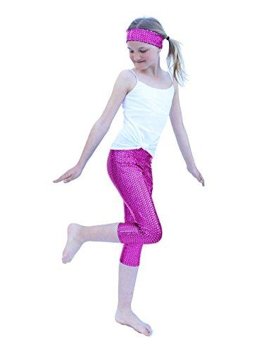 [YogaBerries Mermaid Leggings for Girls KIDS pants Capri for dance (Purple Mermaid, 5/6)] (Hottest Cheerleader Outfits)