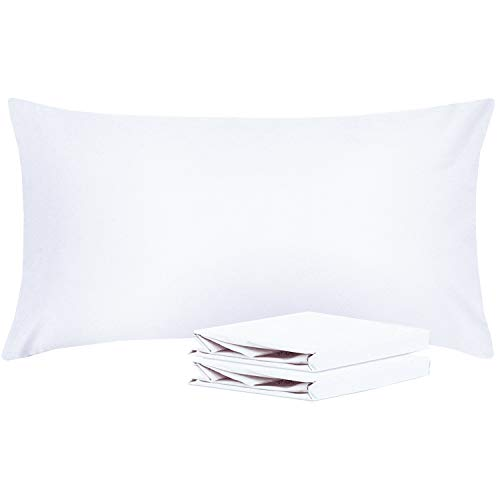 36 Brushed Linen - NTBAY King Pillowcases, Set of 2, 100% Brushed Microfiber, Soft and Cozy, Wrinkle, Fade, Stain Resistant, with Envelope Closure, White