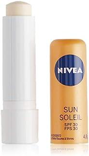 NIVEA Sun Lip Care with SPF 30 (2 x 4.8g Tube), Lip Balm SPF, Protect Against Sun Burn Lip Balm, 24 Hour Hydra