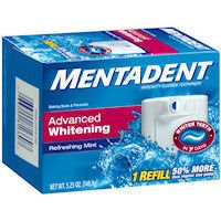 Mentadent Advanced Whitening Fluoride Toothpaste (1) Refill-5.25 oz