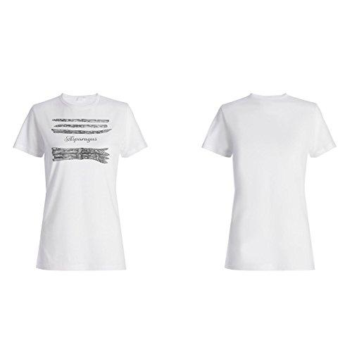 Neue Handgezogener Spargel Damen T-shirt h856f