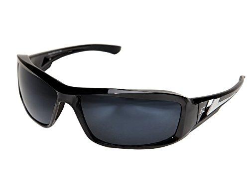 (Edge Eyewear TXB21-G15-7 Brazeau Safety Glasses, Black with Polarized G-15 Silver Mirror Lens)