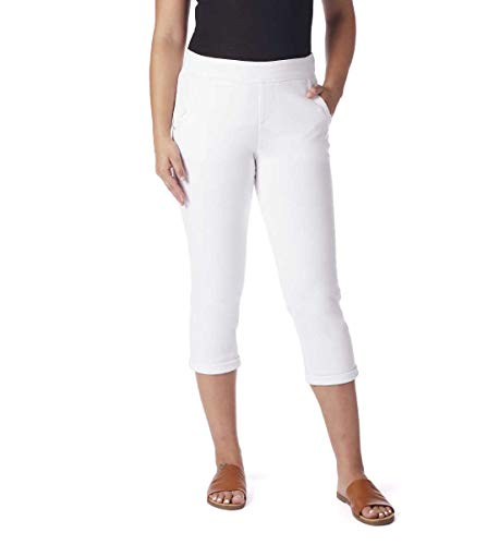 - Jag Jeans Women's Serena Pull on Crop, Jungle Palm, 14