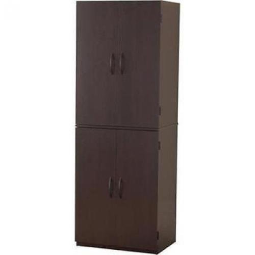 Cherry Storage Cabinet Kitchen Pantry Organizer Wood Furniture by Mainstay