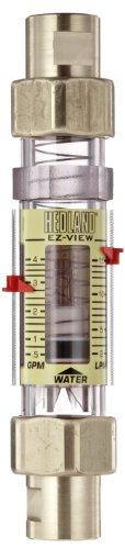 - Hedland H624-604 EZ-View Flowmeter With Sensor, Polysulfone, For Use With Water, 0.5 - 4 gpm Flow Range, 1/2