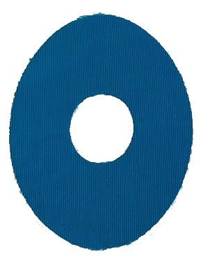 StayPut Adhesive Oval Patch Blue- 1