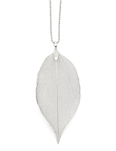 Jewelry Necklace Women Long Chain For Pendant Necklace Silver White Gold Pure Natural Leaf Bohemian Boho Necklace Fashion Gifts Valentine's Day Gifts Birthday Gifts for Women Anniversary Gifts for Her