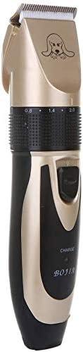 Cortadora de cabello eléctrica La piel del perro mascota Clipper, máquina de afeitar de pelo Clippers de bajo ruido recargable de las podadoras de pelo tranquila recargable eléctrico sin cuerda de pel