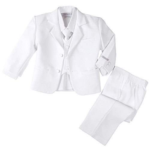 Spring Notion Baby Boys' Formal White Dress Suit Set 4T ()