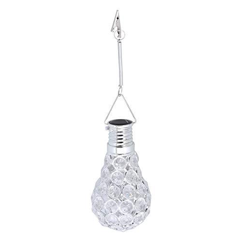 (OSALADI LED Solar Power Light Bulb Low-Voltage Energy-Saving Decorative Suspension Bulb(White))