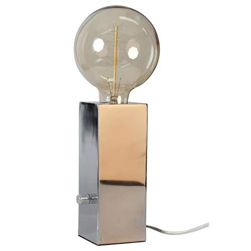 Opjet 011627 – Lampe TOTEM  E27 40 W – 7,5 x 7,5 x 20 cm – Chrom