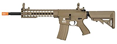 Lancer Tactical GEN 2 M4 Custom Body AEG Metal Gear Electric Airsoft Rifle - TAN