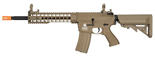 Lancer Tactical GEN 2 M4 Low FPS AEG Metal Gear Electric Airsoft Rifle - TAN