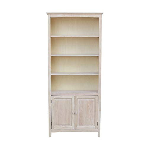 International Concepts Shaker Bookcase-72 H Bookcase, Unfinished