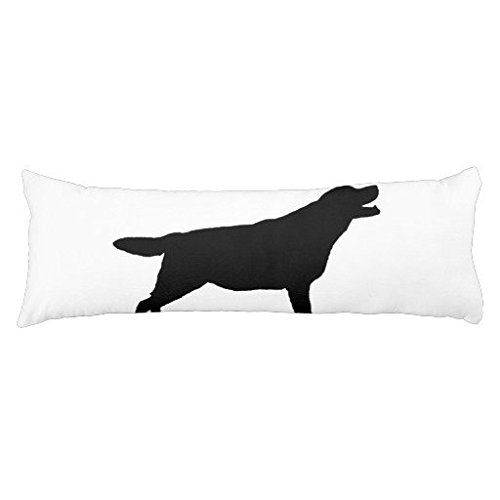 Labrador Retriver hunting dog Silhouette Body Pillow Case Dog Animal Design Cotton Pillow Cover 20 x 54 Inch by Eongo