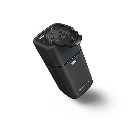 RAVPower 65W 20100mAh Powerstation Tragbare AC Ausgang für Haushaltgeräte Ladegerät Powerbank Reiseladegerät mit Type-C Port und Duale USB iSmart Ports, 19V / 1,6A DC Input für Laptops, MacBook, Smartphone, Tablet und Weitere