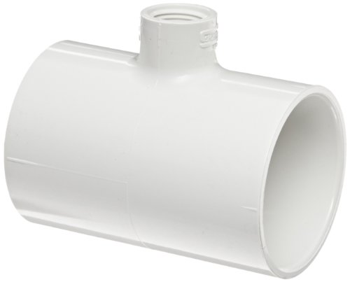 Spears 402 Series PVC Pipe Fitting, Tee, Schedule 40, White, 2