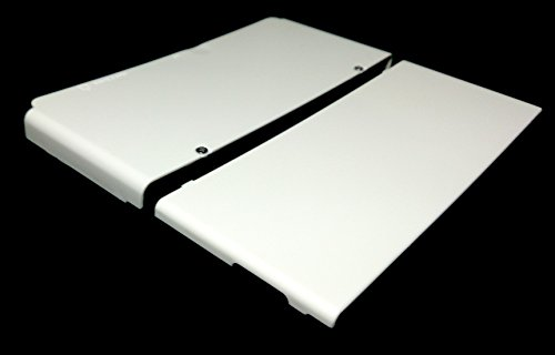 New3DS White Cover Plate w/ Screws 3rd Party Great for Artwork!