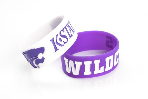 NCAA Kansas State Wildcats Silicone Rubber Bracelet, 2-Pack from aminco