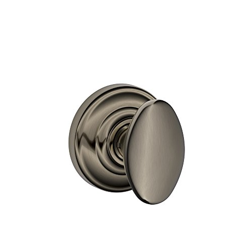 (Siena Knob with Andover Trim Non-Turning Lock, Antique Pewter (F170 SIE 620 AND))