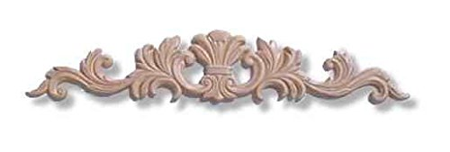 Large Ornate in Center Birch Wood Applique - 18