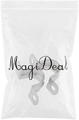 MagiDeal 2 Pi/èces Tube Tuyau de Conduite U-Forme Cintre Selle Sangle Serre-joint Pince Clip en 304 Inox 10mm Argent