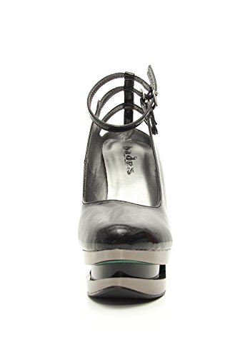 Hades Shoes - Sheen Patent Leather Iceberg Wedge Pump Black Y1vxyjudXg