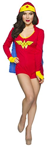 DC Comics Wonder Woman Hooded Romper and Removable Cape - Small