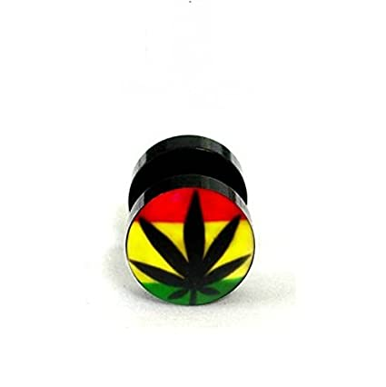 Amazon Com Bob Marley Ear Stud Earrings Weed Stud Piercin Ear Rasta