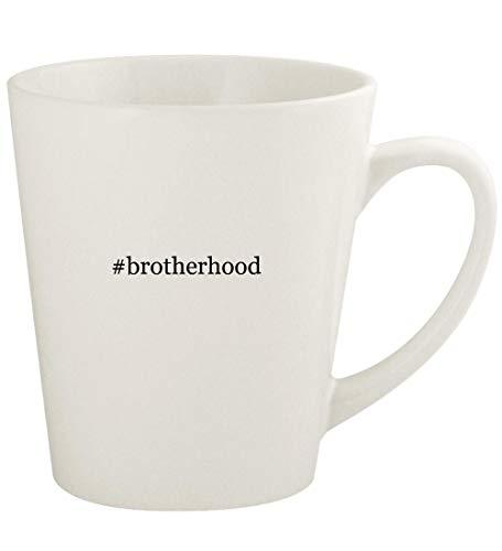 #brotherhood - 12oz Hashtag Ceramic Latte Coffee Mug Cup, White