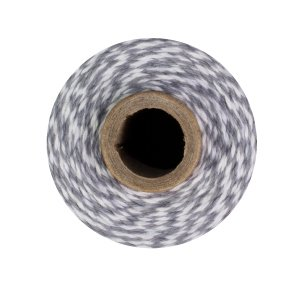 Bakers Twine - 240 Yards (Grey & White)]()