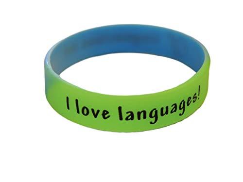 Linguacious I Love Languages Wristband