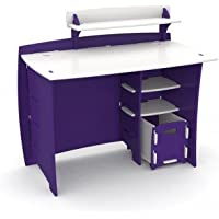 Legare Kids 43 in. Desk with Shelf and File Cart - Purple and White
