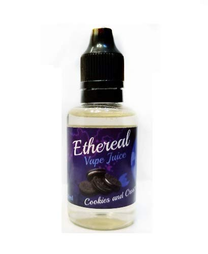 Ethereal Aromatherapy Vape Juice, 0 mg Nicotine 30 ml 100% Nicotine and Tobacco Free e Liquid. (Cookies and Cream)