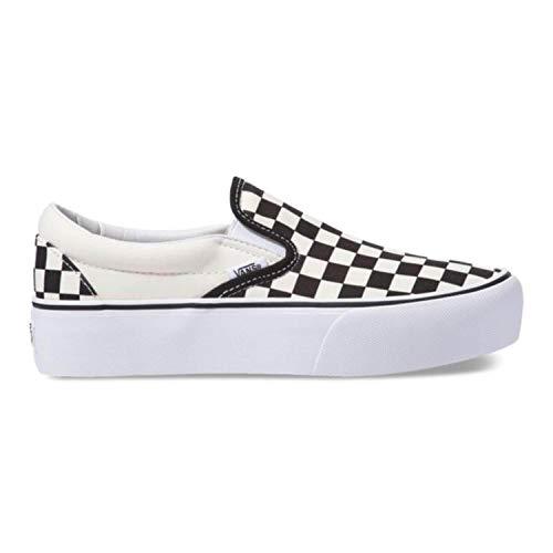 Vans Girls Outfit (Vans Women's Classic Slip-On Platform Slip On Trainers Black Checker/White Bww, 4 UK 36.5)