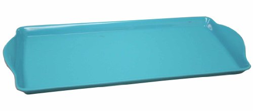 Calypso Basics by Reston Lloyd Melamine Tidbit Tray, Turquoise - Melamine Display Tray