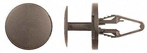 Keyhole Push In Rivet, Nylon, 6.5mm Dia, 17.5mm L, 6.5mm, Black