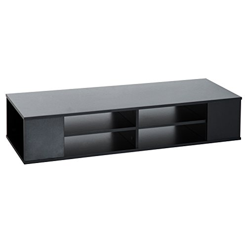 Wall Mounted Audio/Video Media Console (Black) (Wall Mounted Audio)