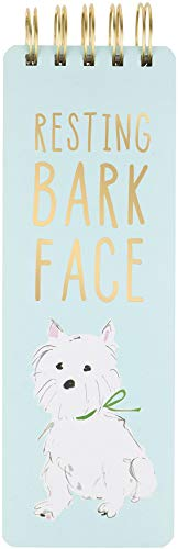 (Eccolo Dog Lovers Spiral Memo Pad, Resting Bark Face, Mint, 3x8.5-inch, 300 Pages - Cover Design by Beth Briggs)