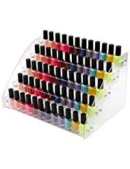 (5 Tiers Acrylic Organizer Brochure Holder Display Stands Nail Polishes Essential Oils for Reagent Dropper Bottles Storage Rack Amount Cosmetics Shop Store Display Toy Candy Holder Goods Shelf Case)